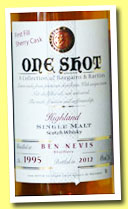 Ben Nevis 1995/2012 (46%, Jean Boyer, One Shot, first fill sherry)