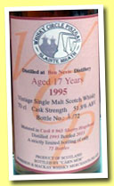 Ben Nevis 17 yo 1995/2013 (51.8%, Càrn Mor for Whisky Circle Pinzgau, sherry hogshead, cask #965)