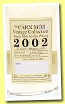 Benrinnes 2002/2009 (46%, Càrn Mor Scottish Collection, hogshead, cask #5)