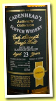 Bladnoch 23 yo 1990/2013 (48.5%, Cadenhead, Authentic Collection, bourbon hogshead, 282 bottles)