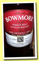 Bowmore 10 yo 'The Devil's Cask' (56.9%, OB, first fill sherry, 2013)