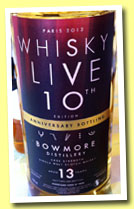 Bowmore 13 yo 2000/2013 (54.1%, Signatory Vintage for Whisky Live Paris 10th Anniversary, hogshead, cask #1429, 286 bottles)
