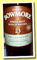 Bowmore 23 yo 1989/2013 'Port Cask Matured' (50.8%, OB)