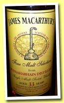 Bunnahabhain 33 yo 1980/2013 (45%, James MacArthur, Fine Malt Selection, bourbon, cask #84)