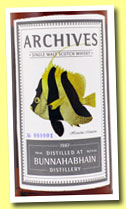 Bunnahabhain 26 yo 1987/2013 (50,2%, Archives, sherry, cask #2557, 233 bottles)