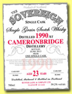 Cameronbridge 23 yo 1990/2013 (59.2%, Hunter Laing, The Sovereign)