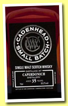 Caperdonich 35 yo 1977/2013 (50.2%, Cadenhead, small batch, sherry butt, 384 bottles)