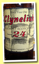 Clynelish 24 yo 1965/1989 (46%, Cadenhead for Sestante/Mainardi, 75cl)