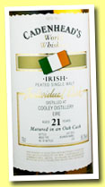 Cooley 21 yo 1992/2013 (56.3%, Cadenhead, World Whiskies, bourbon barrel, 210 bottles)
