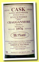 Cragganmore 1976/1989 (56.1%, Gordon & MacPhail, CASK series, 75cl)