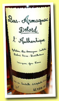 Delord 'L'Authentique' (45.9%, OB, bas-armagnac, 2012)