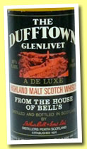 Dufftown-Glenlivet 8 yo (80° proof, OB for Ghirlanda, Italy, +/-1968)