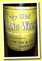 Very Old Highland Whisky (Dymoch, Howden & Co. Ltd, Pure Malt, bottled +/-1910?)