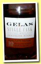 Gélas 10 yo 'Single Cask Double Matured' (41.8%, OB, bas-armagnac, 550 bottles, +/-2012)