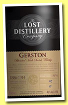 Gerston (46%, The Lost Distillery Company, blended malt, 2013)