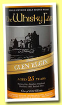Glen Elgin 25 yo 1985/2011 (44.7%, The Whisky Fair, 10th Anniversary, bourbon hogshead, 232 bottles)