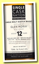 Glen Moray 12 yo 2000 (56.1%, Single Cask Nation, first fill bourbon, cask #797, 148 bottles, +/-2013)