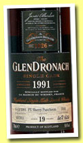 Glendronach 19 yo 1991/2011 (50.4%, OB for The Nectar, Belgium, PX sherry puncheon,cask #3181, 624 bottles)