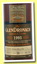 Glendronach 20 yo 1993/2013 (52.9%, OB, batch 8, oloroso sherry butt, cask #3, 633 bottles)