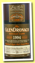 Glendronach 19 yo 1994/2013 (58.4%, OB, batch 8, oloroso sherry butt, cask #101, 628 bottles)