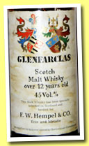 Glenfarclas 12 yo (45%, F.W. Hempel & Co., Germany, +/-1970?)