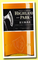 Highland Park 'Einar' (40%, OB, travel retail, 1l, 2013)