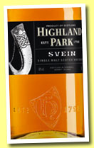 Highland Park 'Svein' (40%, OB, travel retail, 1l, 2013)
