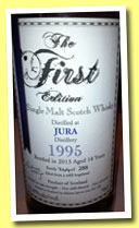 Jura 18 yo 1995/2013 (52.8%, The First Editions, refill hogshead, 288 bottles)