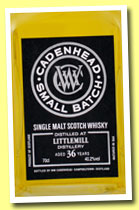 Littlemill 36 yo 1977/2013 (40.2%, Cadenhead, small batch, bourbon hogshead, 150 bottles)