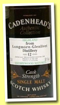 Longmorn 12 yo 1984/1996 (58.1%, Cadenhead Authentic Collection, SherryWood)