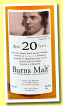 Longmorn 20 yo 1992/2013 (55.5%, The Whisky Barrel, Burns Malt, sherry hogshead, cask #71773)