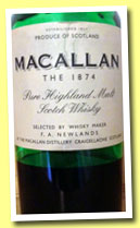 Macallan Replica '1874' (45%, OB, +/-2002)