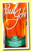 Paul John 'Classic Select Cask' (55.2%, OB, India, 2013)