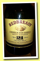 Redbreast 21 yo (46%, OB, single pot still, 2013)