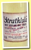 Strathisla 10 yo (43%, OB, Chivas Brothers LTD, early 1960s, 75cl)